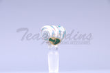 OGkaos Glass on Glass 14mm Bowl Smoking slide Glass on Glass Bowl Bong Slide