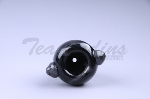 OGkaos Worked Glass on Glass Unobtanium Swirl 14mm Bowl