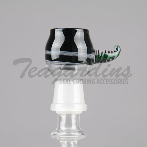 PYRO Glass-18mm Black White Dome