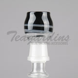 Pyro glass black white dome Concentrate Tools,Dabbers,Oil Rigs, Titanium Nails,Quartz Nails