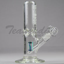 "Load image into Gallery viewer, Pure Glass - Mini Goliath Straight Water Pipe - Etched Decal - 9mm Thickness / 11"" Height"