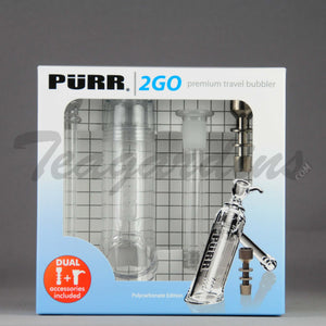 Purr Glass - 2 Go Travel Bubbler Pipe *Unbreakable*