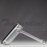 Best Hand Pipe Purr Glass - Big Papa Hammer Bubbler Clear for sale