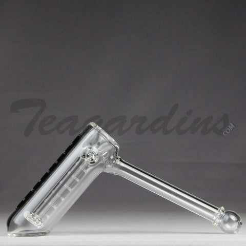 Purr Glass - Big Papa Hammer Bubbler Clear