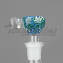 Load image into Gallery viewer, Pyro Glass - Worked 14mm Pullstem Slide Bowl