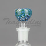 Pyro Glass - Worked 14mm Pullstem Slide Bowl