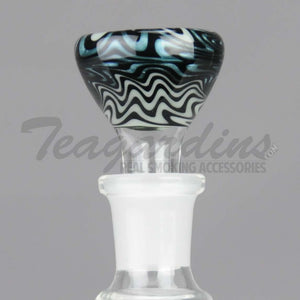 Pyro Glass - Worked Reversal 14mm Pullstem Slide Bowl