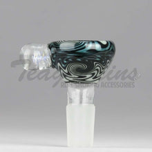 Load image into Gallery viewer, Pyro Glass - Worked Reversal 14mm Pullstem Slide Bowl