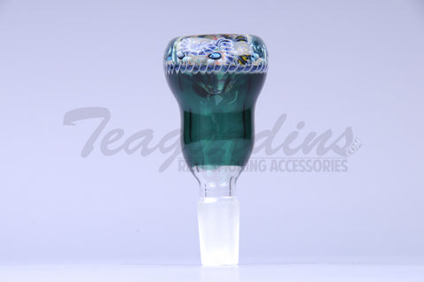 Pyro Worked Glass on Glass 14 mm Bowl