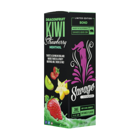 Savage Eliquid - Bond (Dragonfruit Kiwi Strawberry Menthol)