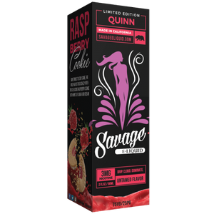 Savage Eliquid - Quinn (Raspberry Cookie)
