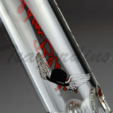 "Sheldon Black - Medio Beaker Water Pipe - Red Signature Decal - 5mm Thickness / 13"" Height"