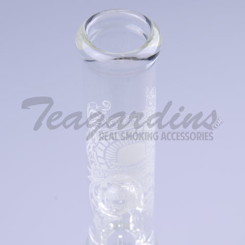 Sheldon Black Glass - Double Chamber Beaker Bottom Water Pipe