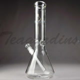 "Sheldon Black Glass - Medio 13"" Beaker Bottom Water Pipe"