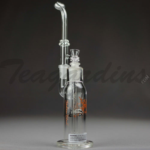 Sheldon Black Glass - Traveler - Diffuser Downstem Dab Rig - Black Decal - 5mm Thickness / 11