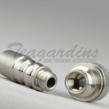 Silika Glass - 14mm  Domeless Titanium Nail