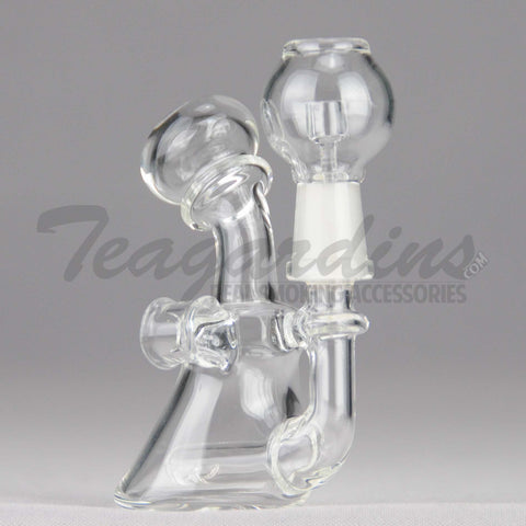 "Teagardins Glass - Micro Inline Percolator Diffuser Dab Rig - 4mm Thickness / 4"" Height"