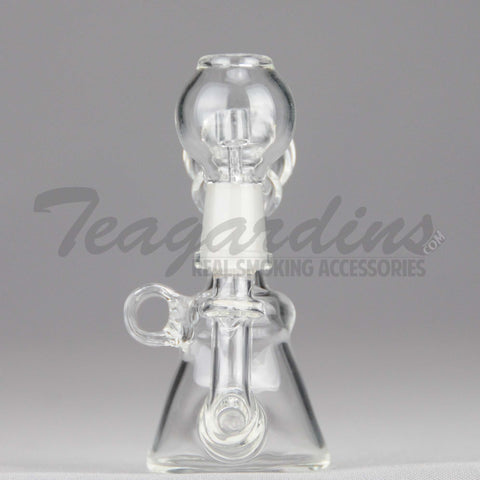 "Teagardins Glass - Micro Inline Percolator Diffuser Oil Rig - 4mm Thickness / 4"" Height"