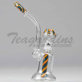 Silika Glass Worked Oiler Bubbler