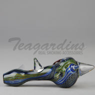 Dynomite Glass Spiked Hand Spoon Smoking Pipes