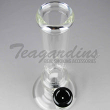 "Load image into Gallery viewer, Teagardins Glass - Stemless Straight Water Pipe - Black - 5mm Thickness / 12.5"" Height Teagardins Glass - Showerhead Percolator Stemless Straight Water Pipe - Black - 5mm Thickness / 12.5"" HeightTeagardins Glass - Showerhead Percolator Stemless Straight Water Pipe - Black - 5mm Thickness / 12.5"" Height"