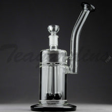 "Load image into Gallery viewer, Teagardins Glass - Bubbler - Fixed Quad Showerhead Downstem Straight Water Pipe - 4mm Thickness / 10"" Height"