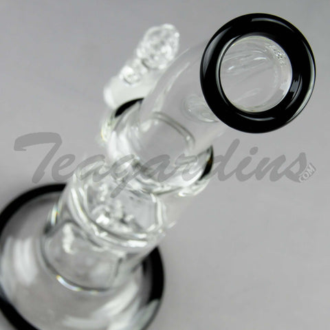 "Teagardin's Glass - D.I. Bubbler - Hammerhead & Turbine Percolator Straight Water Pipe - 4mm Thickness / 9"" Height"