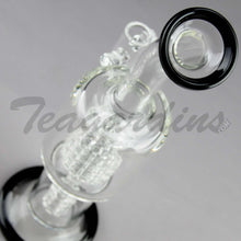 "Load image into Gallery viewer, Teagardins Glass -  D.I. Bubbler - Double Matrix & Mini Matrix Percolator Stemless Dab Rig - Black - 5mm Thickness / 10"" Height"