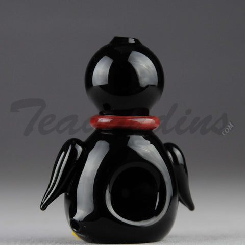 Teagardin's Glass - Penguin Glass Hand Pipe
