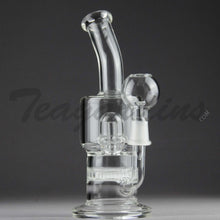 "Load image into Gallery viewer, Teagardins Glass -  D.I. Bubbler - Honeycomb and Mini UFO Percolator Diffuser Stemless Dab Rig - 5mm Thickness / 8"" Height"