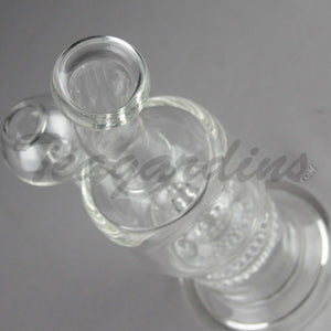 Teagardin's Glass - Stemless D.I. Bubbler With HD and Mini UFO Percolator Oil Rig for Cheap