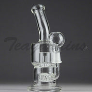 Teagardins Glass -  D.I. Bubbler - Showerhead Percolator & Inline Matrix Percolator Stemless Dab Rig - 5mm Thickness / 8
