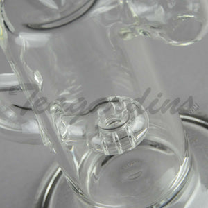 Teagardin's Glass - Stemless D.I. Bubbler with Halo Percolator Oil Rigs for Cheap