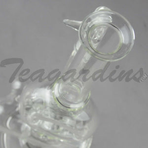 "Teagardins Glass - Donut Chamber Inline Diffuser Stemless Beaker Bottom / Straight Foot Water Pipe - 4mm Thickness / 10.5"" Height"