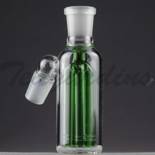 "Load image into Gallery viewer, Teagardins Glass -  Fixed 3 Arm Tree Percolator Ash Catcher / Precooler - Green - 45 Degree Arm / 4.5"" Height"