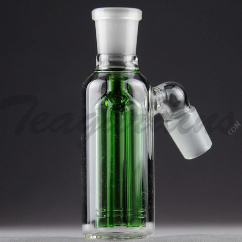 Teagardin's Glass - Triple Ash Catcher Green 18mm 45 Degrees