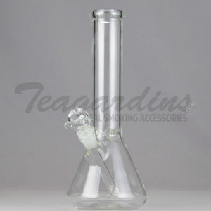 "Teagardins Glass - Diffuser Downstem Beaker Water Pipe - 5mm Thickness / 12"" Height"
