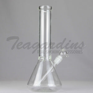 "Teagardin's Glass 12"" Clear Beaker Bottom Water Pipe"