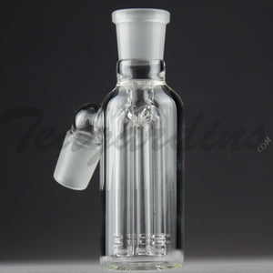 "Teagardins Glass -  Fixed 3 Arm Tree Percolator Ash Catcher / Precooler - 45 Degree Arm / 4.5"" Height 18mm Fitting"