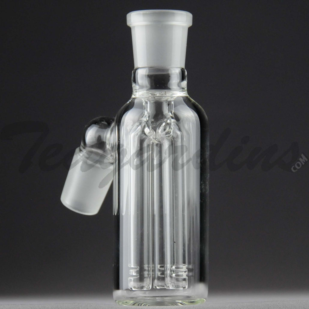 Teagardins Glass -  Fixed 3 Arm Tree Percolator Ash Catcher / Precooler - 45 Degree Arm / 4.5