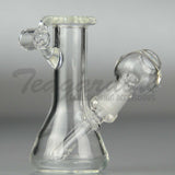 "Teagardins Glass - Mini Pendant Beaker - Diffuser Downstem Dab Rig - 7mm Thickness / 3.5"" Height"