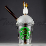 Teagardins Glass - Dabuccino Grande (Starbucks Style) - Diffuser Downstem Dab Rig - Brown Green - 5mm Thickness / 8