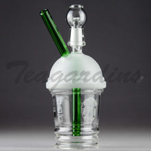 "Load image into Gallery viewer, Teagardins Glass - Dabuccino Grande (Starbucks Style) - Diffuser Downstem Dab Rig - 5mm Thickness / 8"" Height"