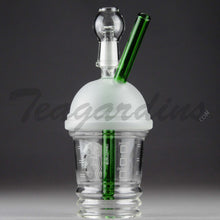 Load image into Gallery viewer, Teagardins Glass - Dabuccino Grande Dab Cup Oil Rig (Starbucks Style)