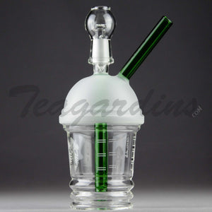 "Teagardins Glass - Dabuccino Grande (Starbucks Style) - Diffuser Downstem Dab Rig - 5mm Thickness / 8"" Height"