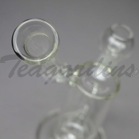 "Teagardins Glass - Hammerhead Percolator Diffuser Stemless Sidecar Oil Rig - 5mm Thickness / 9"" Height"