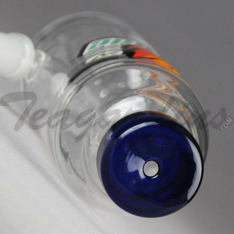 "Teagardins Glass - Hatorade - Diffuser Downstem Oil Rig - Orange Blue - 5mm Wall Thickness / 8"" Height"