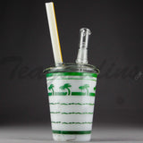 Teagardins Glass - In-N-Out Cup D.I. Oil Rig Bubbler