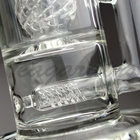 Teagardins Glass - Inline to Sphere Percolator Double Chamber Water Pipe