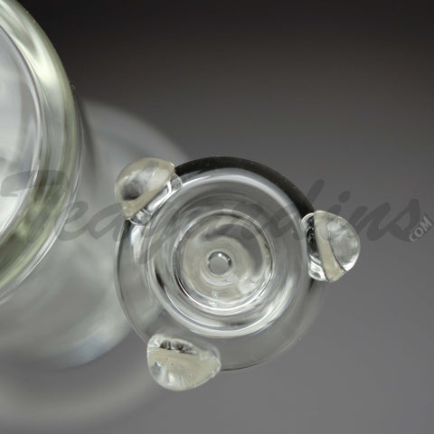 "Teagardins Glass - Double Chamber Sphere Percolator Inline Diffuser Straight Water Pipe - 5mm Thickness / 13"" Height"